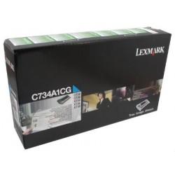 TONER LASER ORIGINAL LEXMARK C734A1CG C734/X734 CYAN 6000 PAGES