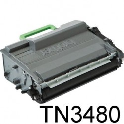 TONER LASER PREMIUM BROTHER TN3480 NOIR 8000 PAGES