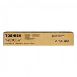 TONER PHOTOCOPIEUR ORIGINAL TOSHIBA T281 / 281C JAUNE 10000 PAGES